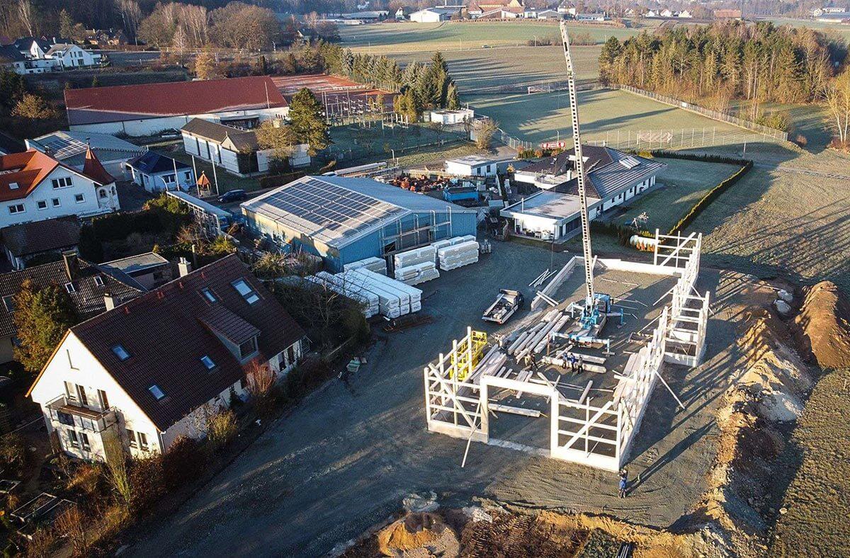 Kolb neue Abbundhalle - Kolb Bedachungen GmbH Bayreuth